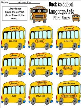 Back to School Language Arts Activity Packet Bundle - Color & B/W
