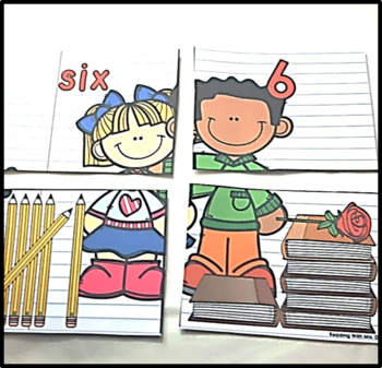 Back to School 1-10 Number Match Card Game