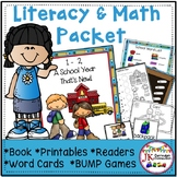 Back to School Literacy & Math Activities Packet