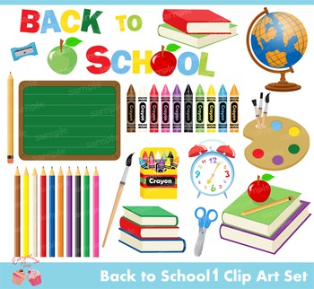 Back to School 1 Clipart Set