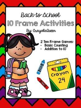 Back-to-School 10 Frame Activities