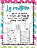 Back to School - 10+ French Activities