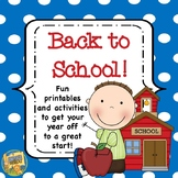 Back to School Activities - 10 activities to start the year!  Lots of Writing!