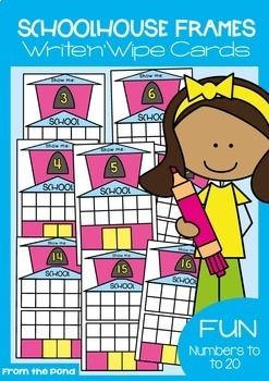 Back to School 10 and 20 Frame Activity Cards