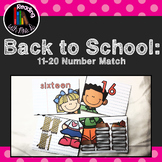 Back to School 11-20 Numbers Match Card Game