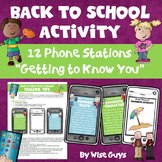 Back to School Activity Cell Phone Station Cards