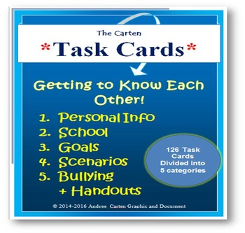 126 Task Cards on Getting to Know Each Other