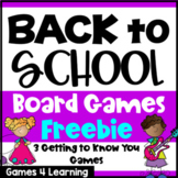 Back to School Activities: Getting to Know You: First Day of School Activities