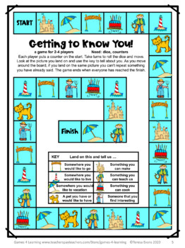 Free First Day Of School Activities Getting To Know You Games Tpt