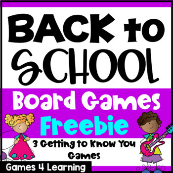 Back to School Activities: Getting to Know You Beginning o