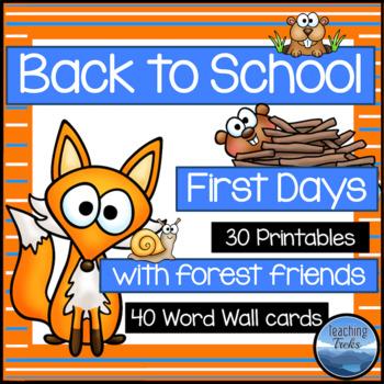 Back to School (First Week of School Activities)