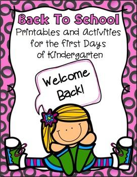 Back to School ~ Kindergarten