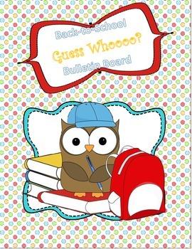 Back to School Guess Whoooo Interactive Bulletin Board