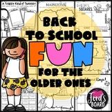 Back to School Activities for Upper Grades