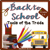 BACK TO SCHOOL TEACHING TOOLS FOR MIDDLE SCHOOL
