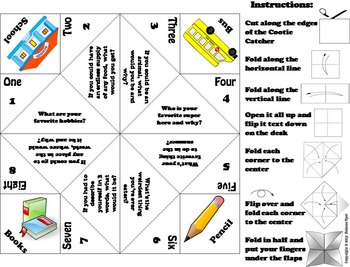 The Beginning of the Year Activity/ First Week of School Activity Foldable