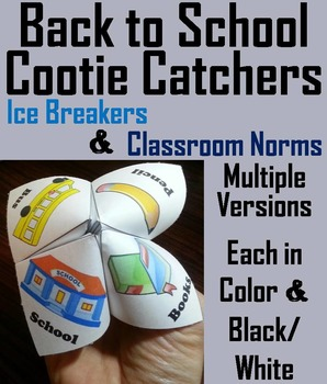 The Beginning of the Year Activity: Back to School Ice Breakers and Norms