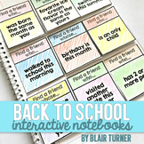 Back to School Interactive Notebook