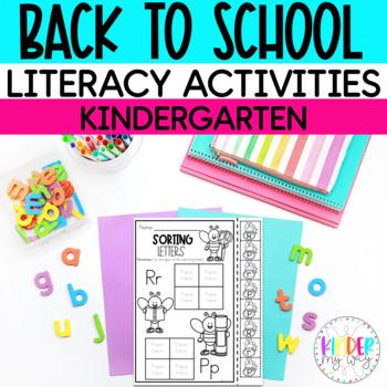 Back to School Literacy NO PREP Printables