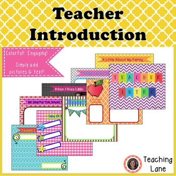 Meet the Teacher -Teacher Intro Resource