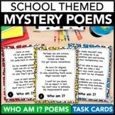 Back to School ELA Activity: Poetry Comprehension Task Cards