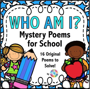 Poetry Comprehension Activities: School Poetry Task Cards