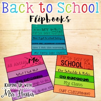 Back to School Writing Flipbooks
