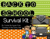 Back to School Unit - Survival Kit