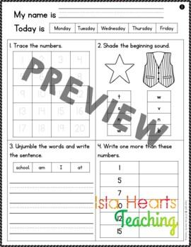 Back to School: 1st Grade Back to School Activities Packet