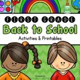 Back to School (1st Grade Back to School Activities Packet)