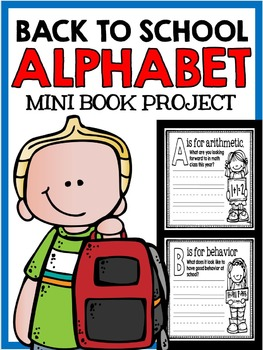 Back to School Activity - All About Me Alphabet Mini Book Project
