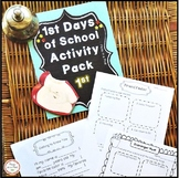 First Day of School Activities First Grade
