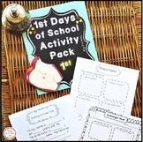 First Day of School Activities 1st Grade