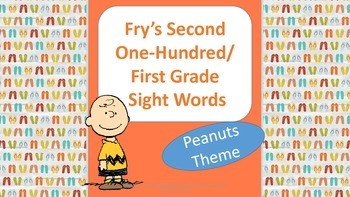 1st Grade Flash Cards.  Fry's 2nd 100.