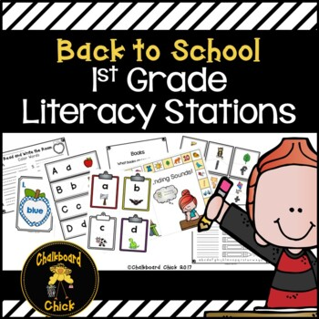 Back to School 1st Grade Literacy Stations