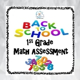 Back to School 1st Grade Math Assessment