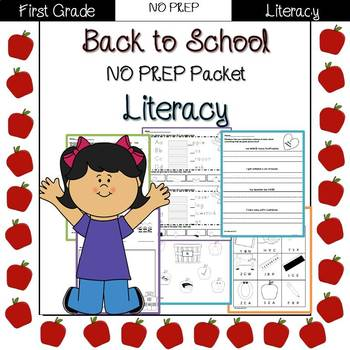 Back to School: 1st Grade NO PREP Literacy