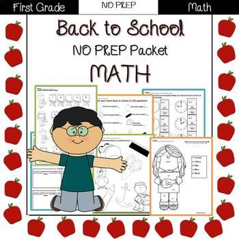 Back to School: 1st Grade NO PREP Math