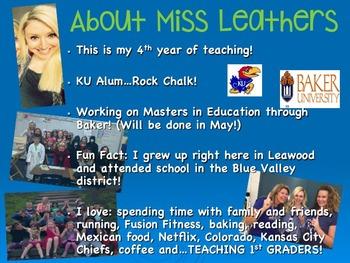 Back-to-School 1st Grade Teacher Presentation