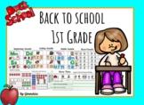 Back to School 1st Grade for Google Slides for Distant Learning
