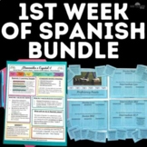 Back to School: 1st Week of Spanish class BUNDLE