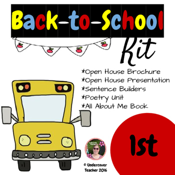Back to School 1st grade (First) Kit {Brochure, Presentati