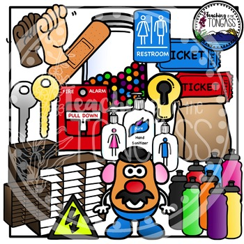 Back to School Supplies Clipart Bundle 2