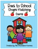 Back to School 2-D Shape Sorting Game