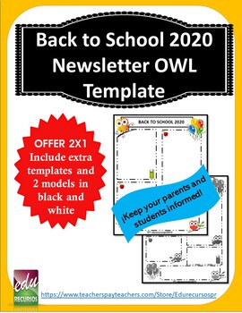 Back to School 2015-2016: Newsletter for owls class