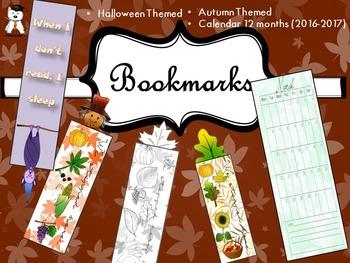 Original Bookmarks - Autumn, Halloween, Calendar
