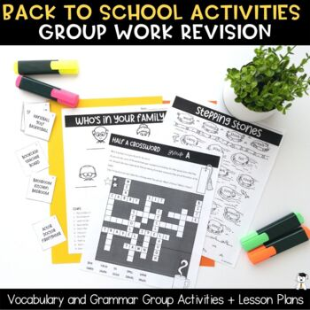 Back to School 2018 Vocabulary Games and Activities Pack