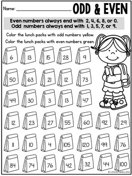 First Grade Math Worksheets and Literacy Worksheets - Back to School Activities