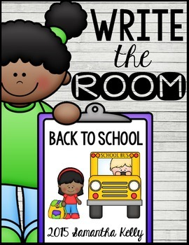 Back to School Write the Room by Samantha Kelly | TpT
