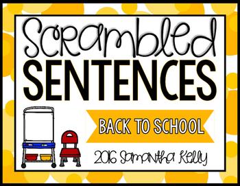 Back to School Scrambled Sentence Station